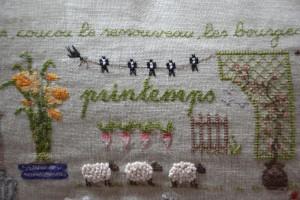 chambre dhotes Normandie Calvados broderie printemps PF